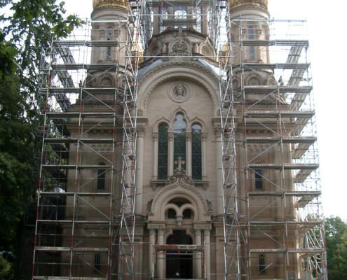 Gerüstbau Kirche Neroberg