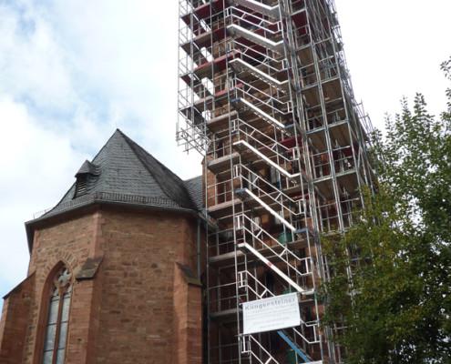 Gerüstbau Kirche San Sebastian